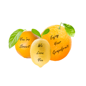 Message Fruit